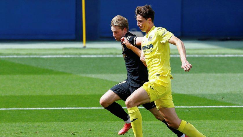 Pau Torres marking Frenkie De Jong