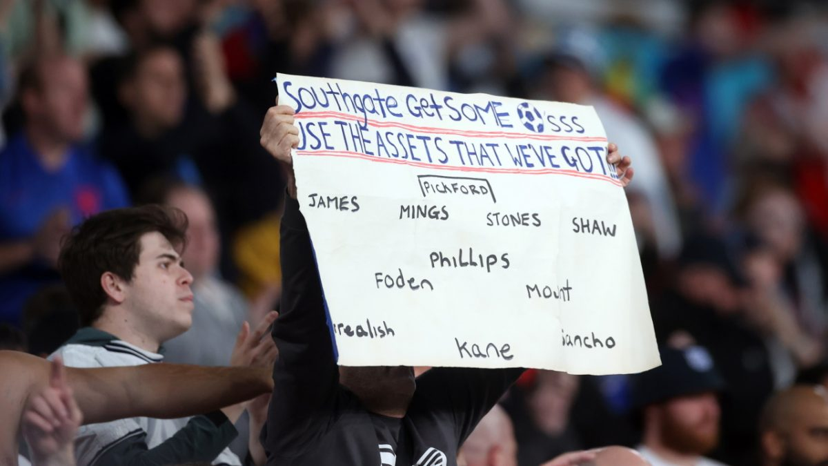 ENGLAND FAN PROTEST