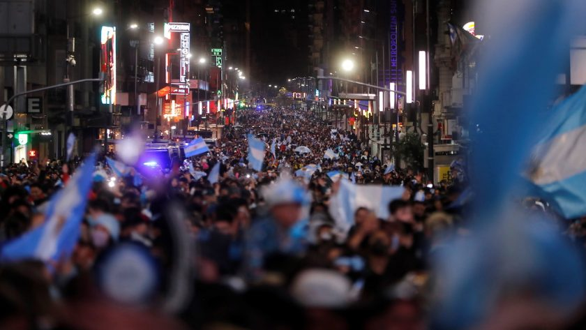 Celebrations in Buenos Aires after Argentina's first title win in 28 years